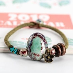 🆕 Boho Large Ceramic Stone Fashion Bracelet